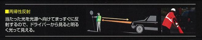再帰性反射材の説明