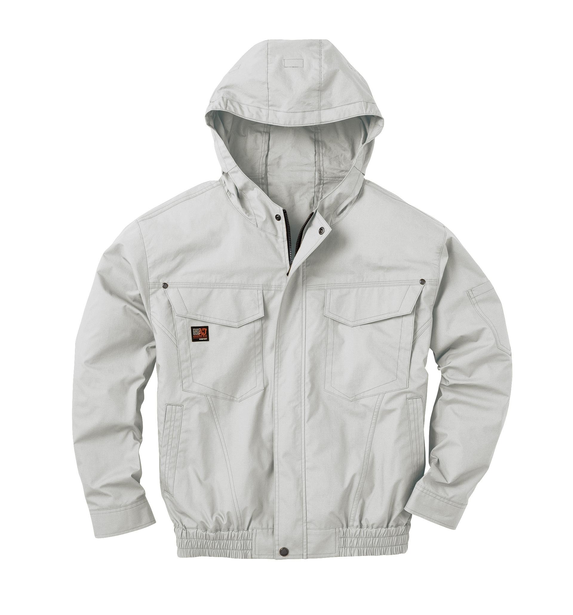 KU91410 綿100%のフード付き空調服 話題沸騰!猛暑・溶接作業対応ファン付き作業服 M-500F