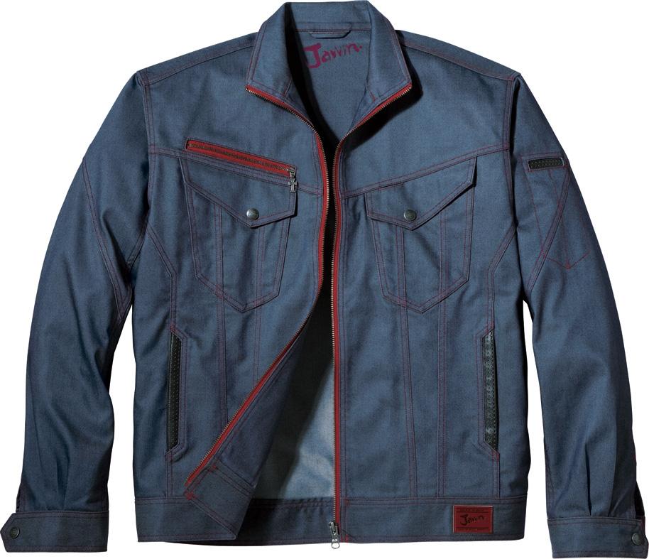 自重堂作業服52400シリーズJawinジーニングテイストな作業服