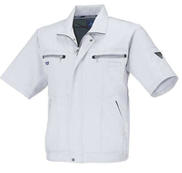XEB9651 半袖ブルゾン[社名刺繍無料] 206/クールグレー