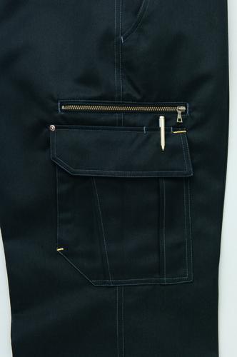 AZ-3821 カーゴパンツ(ノータック) ファスナーポケット