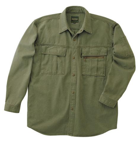 TAKA_GC2002 GRANCISCO(グランシスコ)長袖シャツ[社名刺繍無料] 2/ハンターグリーン