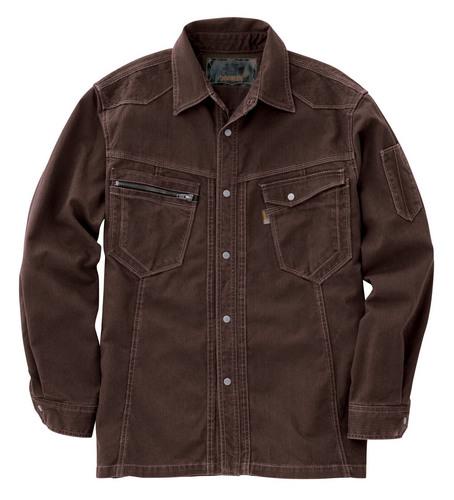 CUC8211 DOGMAN長袖シャツ[社名刺繍無料] 13/ブラウン