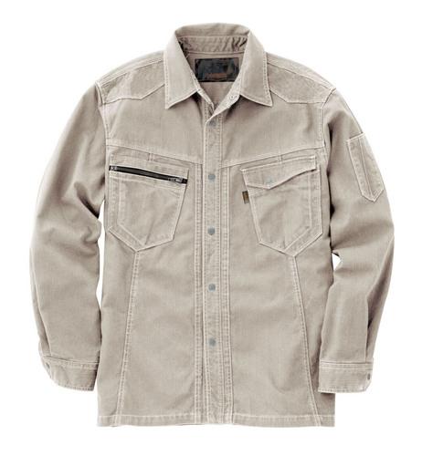 CUC8211 DOGMAN長袖シャツ[社名刺繍無料] 03/アイボリー