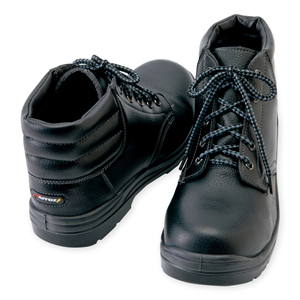 AZ-59813 セーフティシューズ(ウレタンミドル靴ヒモ) 010/ブラック