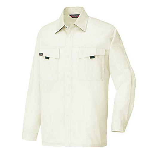 AZ-5575 長袖シャツ[社名刺繍無料] 001/アイボリー