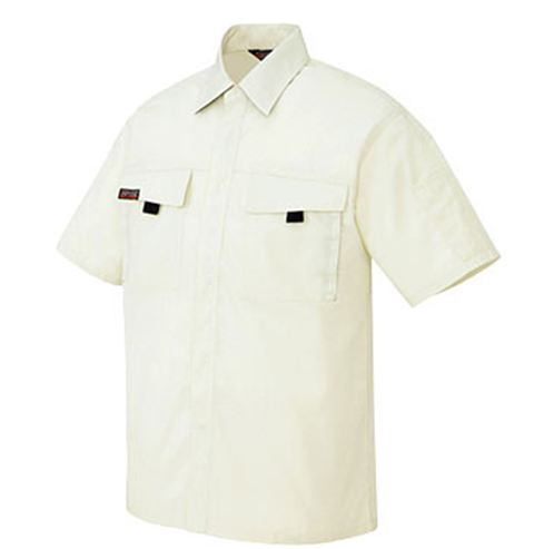 AZ-5576 半袖シャツ[社名刺繍無料] 001/アイボリー
