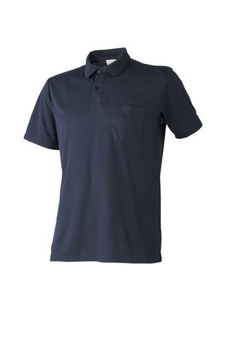 ATACKBASE-310-15 白金ナノ消臭半袖ポロシャツ 02/ネイビー