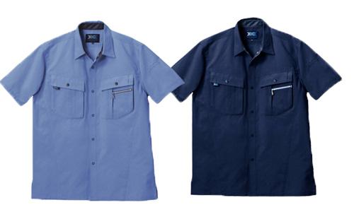 TAKA_TU-9803 猛暑専用半袖シャツ[社名刺繍無料] 6 ライトブルー/5 ネイビー