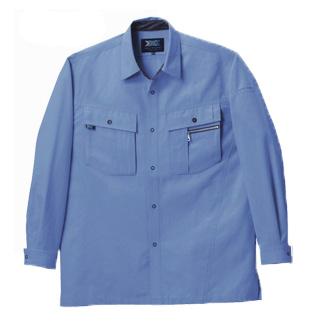 TAKA_TU-9802 猛暑専用長袖シャツ[社名刺繍無料] 06/ライトブルー