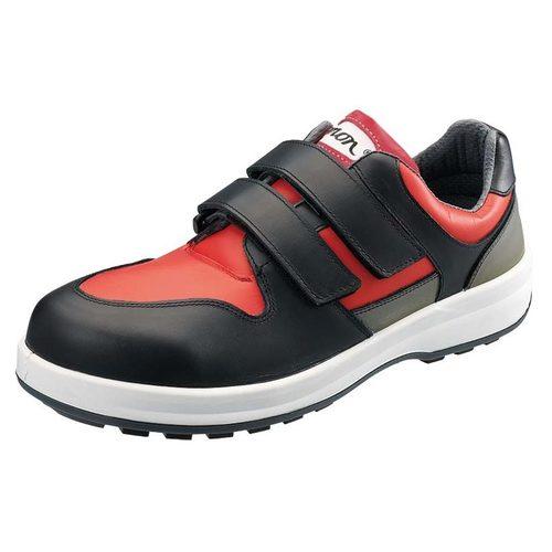 シモン安全靴8518 赤/黒 短靴