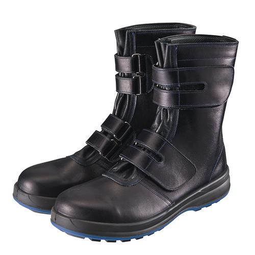 シモン安全靴8538 黒 半長靴マジック付