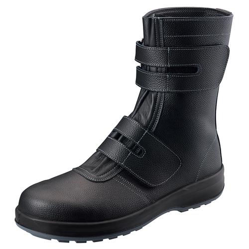 シモン安全靴SS38 黒 半長靴(マジック付)