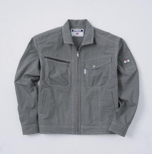 CUC8417 DOGMAN長袖ブルゾン[社名刺繍無料] 86/クロ×シロ