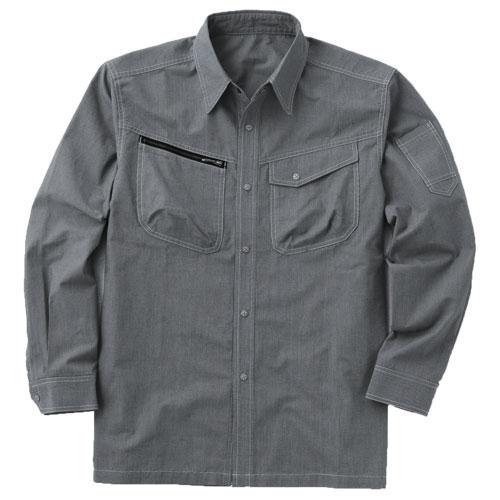 CUC8411 DOGMAN長袖シャツ[社名刺繍無料] 86/クロ×シロ