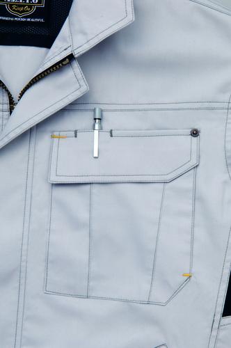 AZ-3830 長袖ブルゾン[社名刺繍無料] ペン差し付ポケット