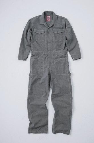 CUC8490 DOGMAN長袖ツナギ 86/クロ×シロ