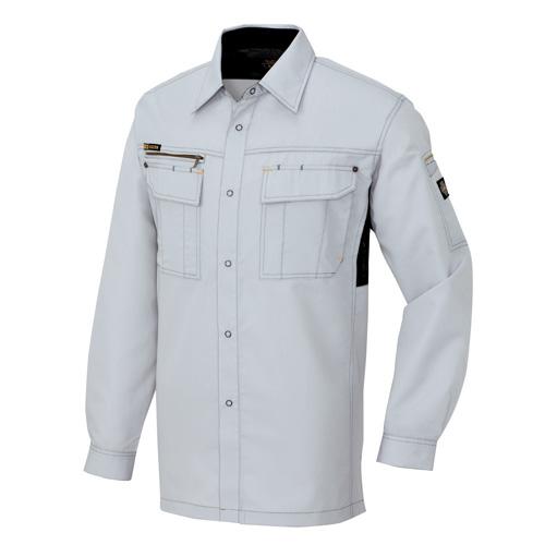 AZ-3835 長袖シャツ[社名刺繍無料] 003/シルバーグレー