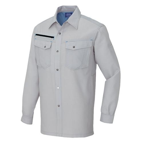 AZ-3135 長袖シャツ[社名刺繍無料] 004/グレー
