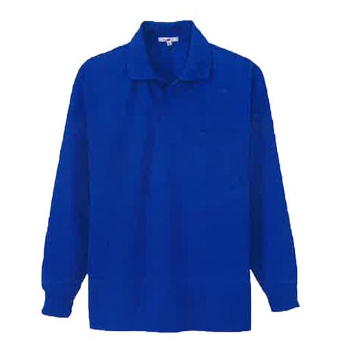 AZ-10600 吸汗速乾(クールコンフォート)ペン差し付長袖ポロシャツ(男女兼用) 006/ロイヤルブルー