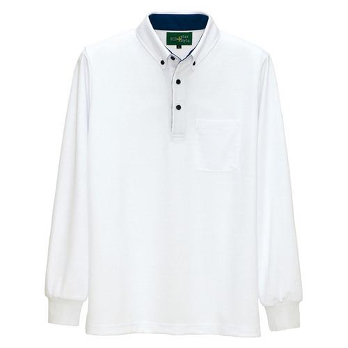 AZ-50012 制電長袖ポロシャツ(男女兼用) 001/ホワイト