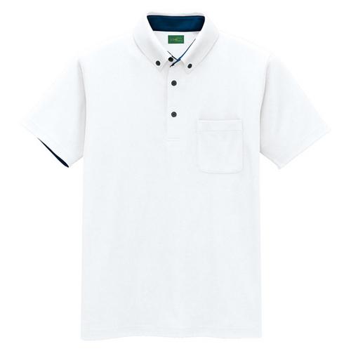 AZ-50006 ※制電半袖ポロシャツ(男女兼用) 001/ホワイト
