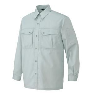 AZ-5665 長袖シャツ[社名刺繍無料] 003/シルバーグレー