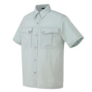 AZ-5666 半袖シャツ[社名刺繍無料] 003/シルバーグレー