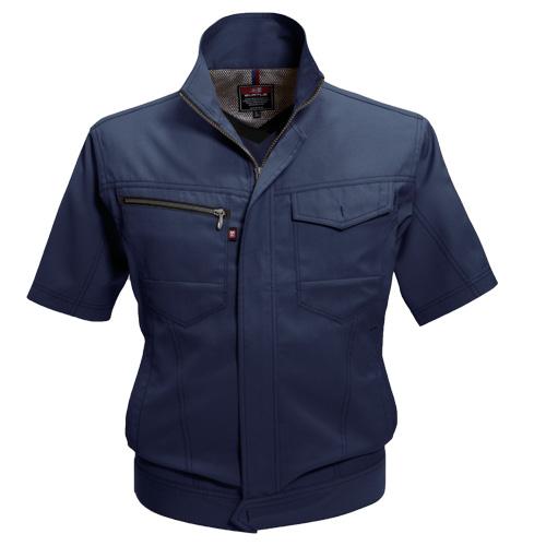 BURTLE7092 半袖ジャケット[社名刺繍無料] 3/ネイビー