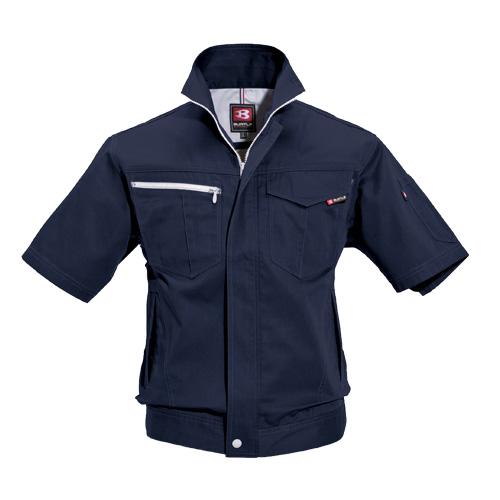 BURTLE6082 半袖ジャケット[社名刺繍無料] 3/ネイビー