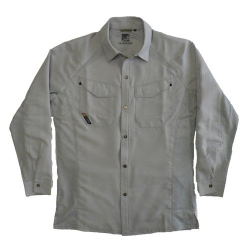 IZFRONTIER10011 ワークシャツ[社名刺繍無料] 01/シルバー