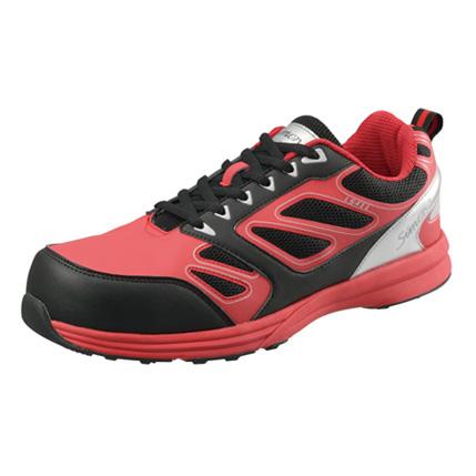 SIMON-LS411 シモン安全靴 プロテクティブスニーカー(紐)  レッド/ブラック