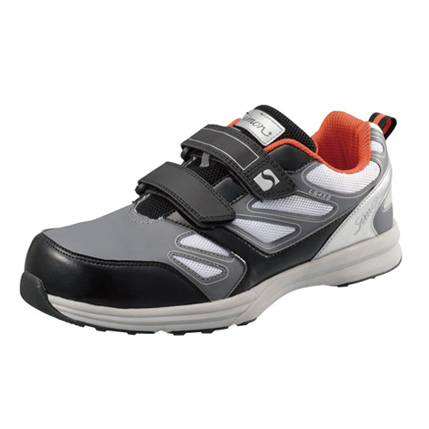 SIMON-LS418 シモン安全靴 プロテクティブスニーカー(マジック) グレー/ホワイト