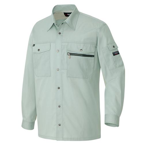 AZ-3235_1 長袖シャツ[社名刺繍無料] 005/アースグリーン