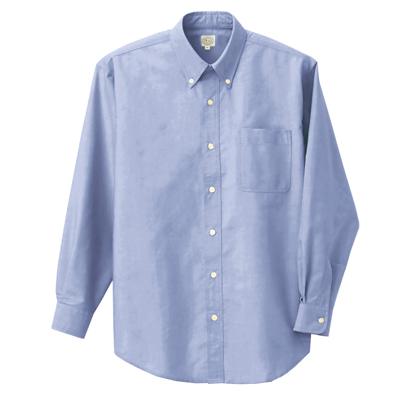 AZ-7822 長袖Cオックスボタンダウンシャツ(男女兼用) 007/サックス