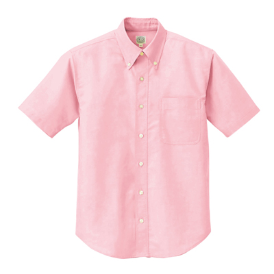 AZ-7823 半袖Cオックスボタンダウンシャツ(男女兼用) 060/ピンク