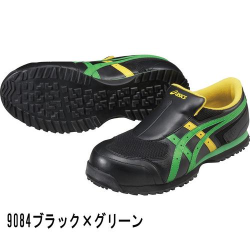 asics_FIS36S アシックス ウィンジョブ36S 9084ブラック×グリーン