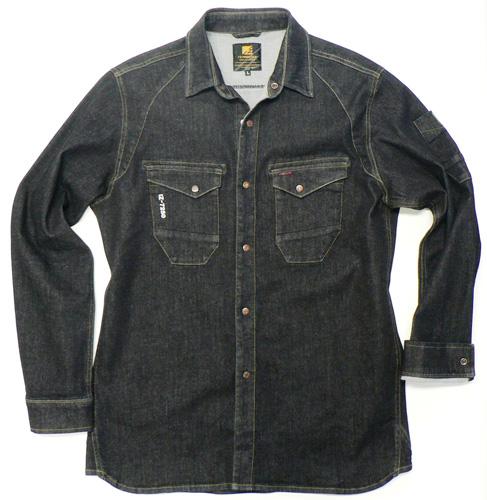IZFRONTIER7251 ワークシャツ[社名刺繍無料] 12/ブラックインディゴ