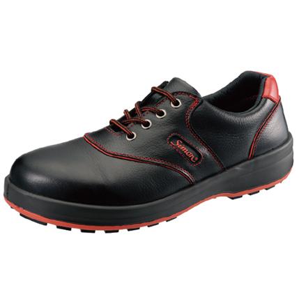 シモン安全靴SL11-R 黒/赤 短靴
