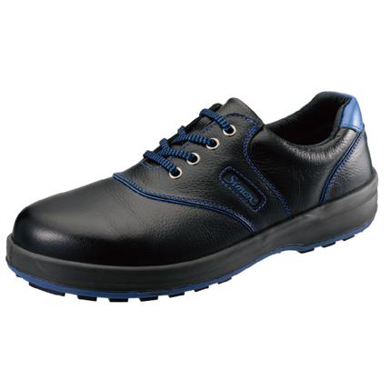 シモン安全靴SL11-BL 黒/ブルー 短靴
