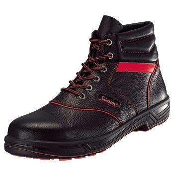 SIMON-SL22R シモン安全靴SL22-R 黒/赤 編上靴