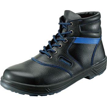 シモン安全靴SL22-BL 黒/ブルー 編上靴