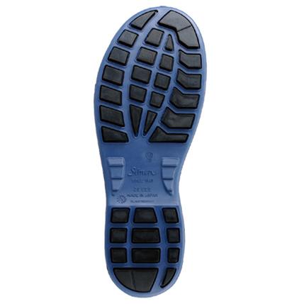 シモン安全靴8611 白/ブルー 短靴