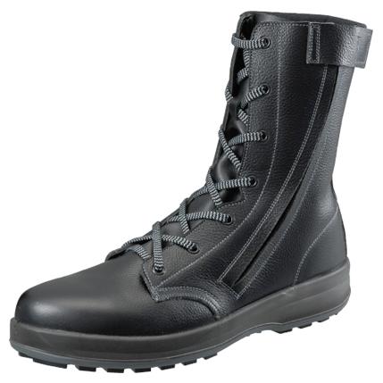 SIMON-WS33C シモン安全靴 WS33 C付 黒 長編上靴(チャック付)