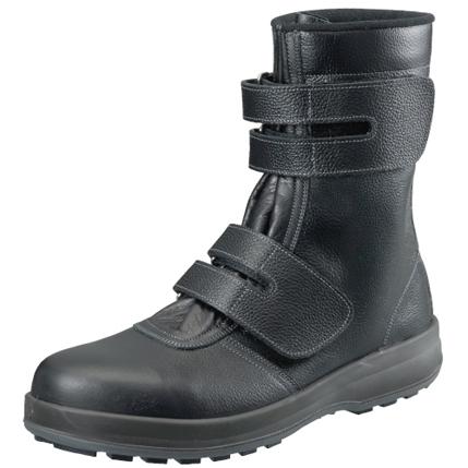 シモン安全靴 WS38 黒 半長靴マジック付