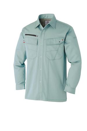 ATACKBASE-8101-6 長袖シャツ 14/アースグリーン