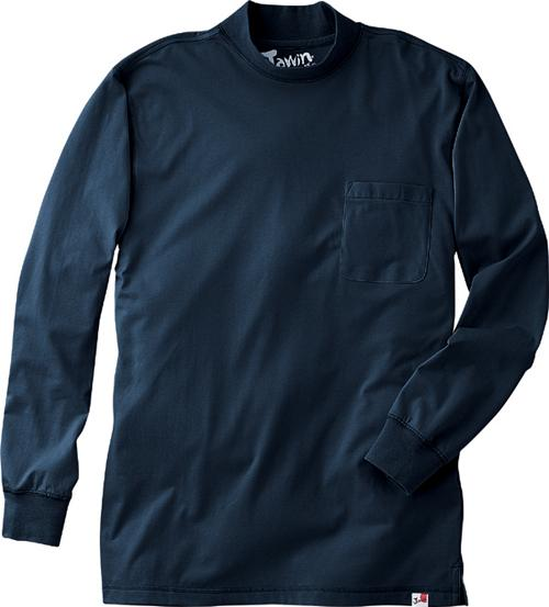 DESK55324 Jawin長袖ローネックシャツ カラー:ネービー