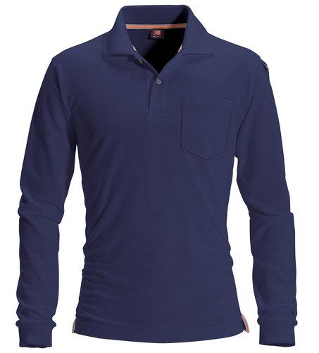 BURTLE505 長袖ポロシャツ 3/ネイビー