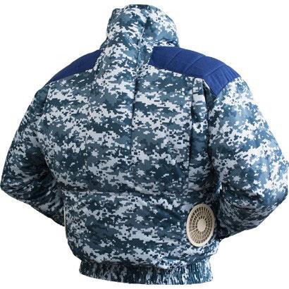TEKKIN-4GARA 剛肩タチエリタイプブルゾン<柄物>[社名刺繍無料] デジタル迷彩ブルー