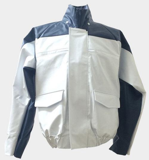 KU6097 ナダレス空調ブルゾン(フード付) ホワイト